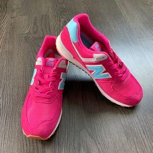 New Balance 574 Exuberant Pink/Blue Shoes 8, 8.5